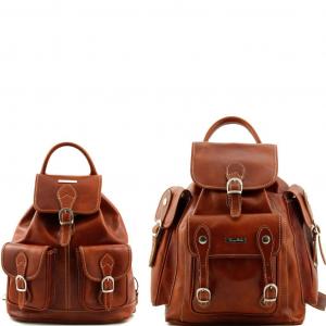 Tuscany Leather TL90173 Trekker - Travel set Leather backpacks Honey