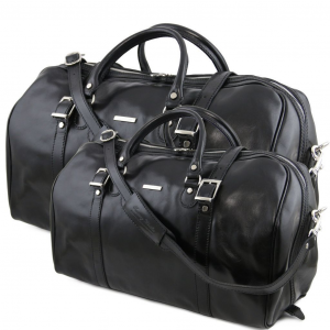 Tuscany Leather TL10175 Berlin - Ensemble de voyage en cuir Noir
