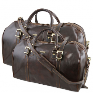 Tuscany Leather TL10175 Berlino - Set da viaggio in pelle Testa di Moro