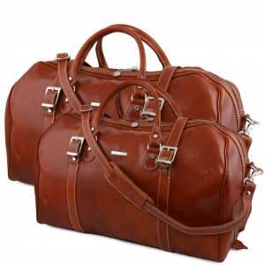 Tuscany Leather TL10175 Berlin - Ensemble de voyage en cuir Miel