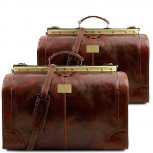 Tuscany Leather TL1070 Madrid - Set da viaggio in pelle Marrone