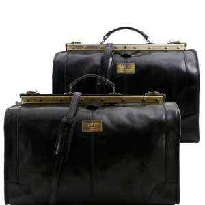 Tuscany Leather TL1070 Madrid - Ensemble de voyage en cuir Noir