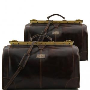 Tuscany Leather TL1070 Madrid - Travel set Gladstone bags Dark Brown