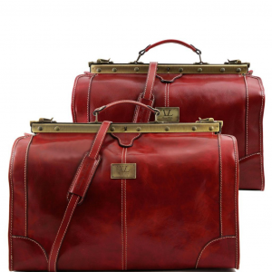 Tuscany Leather TL1070 Madrid - Set da viaggio in pelle Rosso