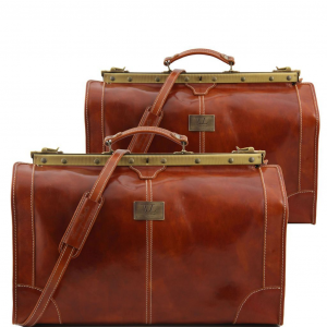 Tuscany Leather TL1070 Madrid - Set da viaggio in pelle Miele