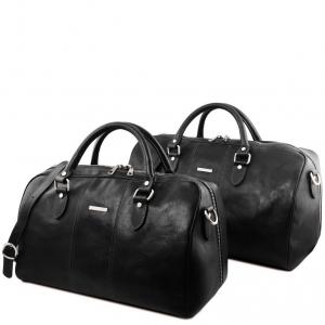 Tuscany Leather TL141659 Lisbona - Leather travel set Black
