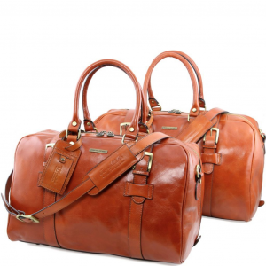 Tuscany Leather TL141257 Vespucci - Set da viaggio in pelle Miele