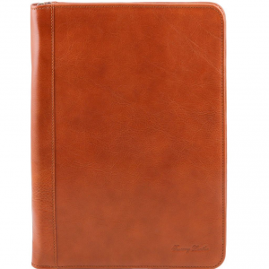 Tuscany Leather TL141287 Luigi XIV - Porte-document en cuir avec fermeture glissière Miel