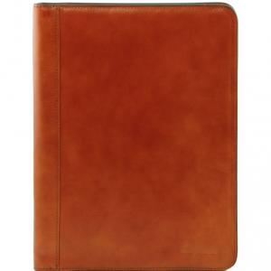 Tuscany Leather TL141293 Lucio - Exclusif porte-document en cuir avec anneaux Miel