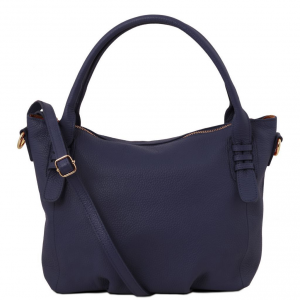 Tuscany Leather TL141705 TL Bag - Soft leather handbag Dark Blue
