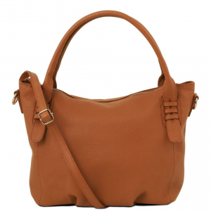 Tuscany Leather TL141705 TL Bag - Soft leather handbag Cognac