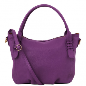 Tuscany Leather TL141705 TL Bag - Soft leather handbag Purple