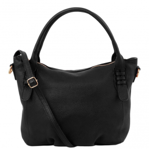 Tuscany Leather TL141705 TL Bag - Soft leather handbag Black