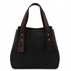 Tuscany Leather TL141730 TL Bag - Sac shopping en cuir Noir