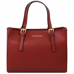 Tuscany Leather TL141434 Aura - Sac à main en cuir Rouge