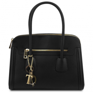 Tuscany Leather TL141285 TL Keyluck - Soft leather handbag Black