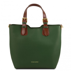 Tuscany Leather TL141696 TL Bag - Sac à main en cuir Saffiano Vert