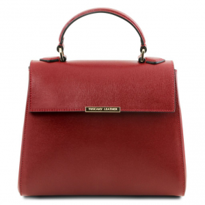 Tuscany Leather TL141628 TL Bag  - Small Saffiano leather duffel bag Red
