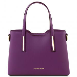 Tuscany Leather TL141521 Olimpia - Leather tote - Small size Purple