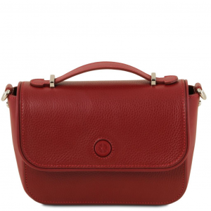 Tuscany Leather TL141725 Primula - Leather clutch handbag Red