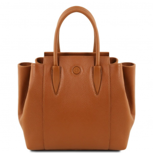 Tuscany Leather TL141727 Tulipan - Sac à main en cuir Cognac
