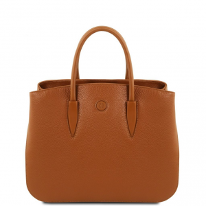Tuscany Leather TL141728 Camelia - Sac à main en cuir Cognac