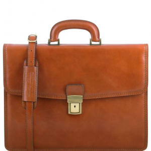 Tuscany Leather TL141351 Amalfi - Leather briefcase 1 compartment Honey