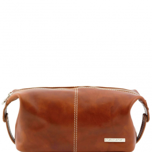 Tuscany Leather TL140349 Roxy - Leather toilet bag Honey