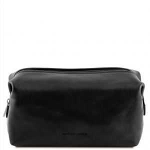 Tuscany Leather TL141220 Smarty - Leather toilet bag - Small size Black