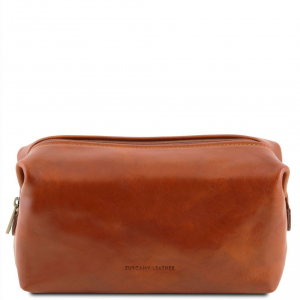 Tuscany Leather TL141220 Smarty - Leather toilet bag - Small size Honey