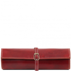 Tuscany Leather TL141621 Exclusive leather jewellery case Red