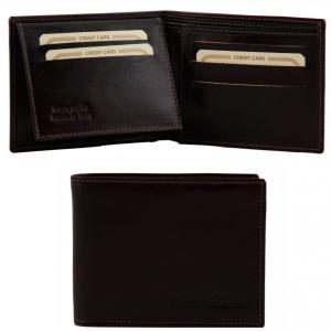 Tuscany Leather TL140760 Esclusivo portafoglio uomo in pelle 3 ante Testa di Moro