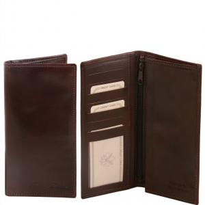Tuscany Leather TL140777 Esclusivo portafoglio verticale in pelle uomo 2 ante Testa di Moro