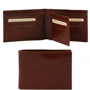 Tuscany Leather TL140817 Exclusive leather 3 fold wallet for men Brown