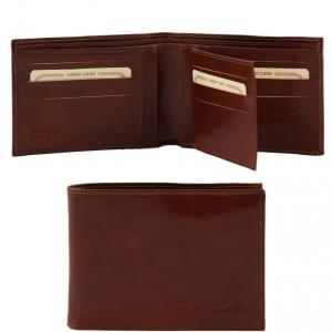 Tuscany Leather TL140817 Esclusivo portafoglio uomo in pelle 3 ante Marrone