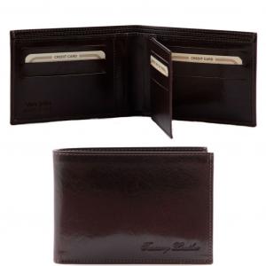 Tuscany Leather TL140817 Esclusivo portafoglio uomo in pelle 3 ante Testa di Moro