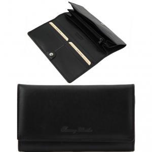 Tuscany Leather TL140787 Esclusivo portafogli in pelle da donna con soffietti Nero