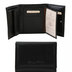 Tuscany Leather TL140790 Exclusive leather wallet for women Black
