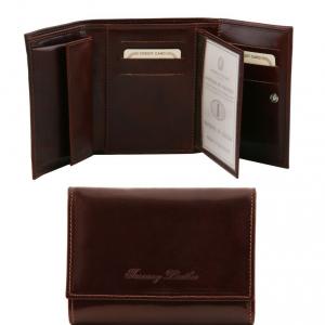 Tuscany Leather TL140790 Esclusivo portafogli in pelle da donna 4 ante Testa di Moro