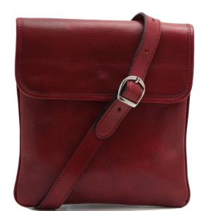 Tuscany Leather TL140987 Joe - Borsello in pelle a tracolla Rosso