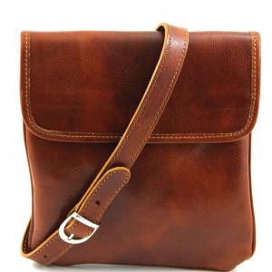 Tuscany Leather TL140987 Joe - Borsello in pelle a tracolla Miele