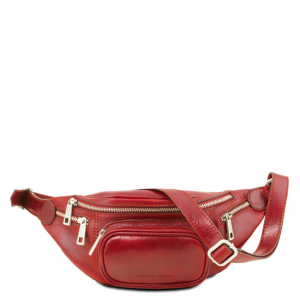 Tuscany Leather TL141305 Marsupio in pelle Rosso