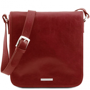 Tuscany Leather TL141260 TL Messenger - Sac bandoulière en cuir 1 compartiment Rouge