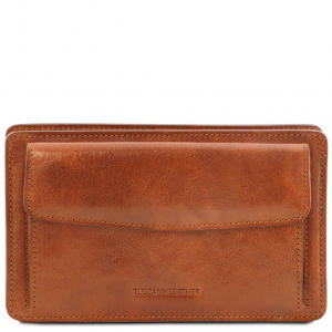 Tuscany Leather TL141445 Denis - Esclusivo borsello a mano in pelle Miele