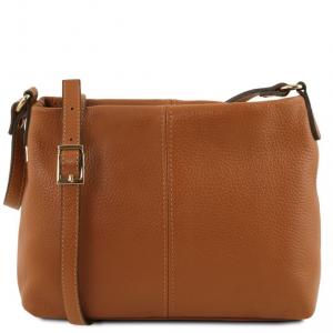 Tuscany Leather TL141720 TL Bag - Soft leather shoulder bag Cognac