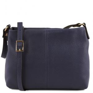 Tuscany Leather TL141720 TL Bag - Soft leather shoulder bag Dark Blue