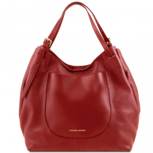 Tuscany Leather TL141515 Cinzia - Soft leather shopping bag Red