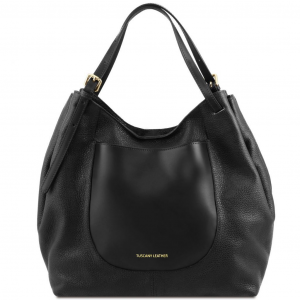 Tuscany Leather TL141515 Cinzia - Soft leather shopping bag Black