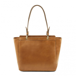 Tuscany Leather TL141231 TL NeoClassic - Leather tote with two handles Dark Taupe