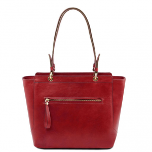 Tuscany Leather TL141231 TL NeoClassic - Leather tote with two handles Red